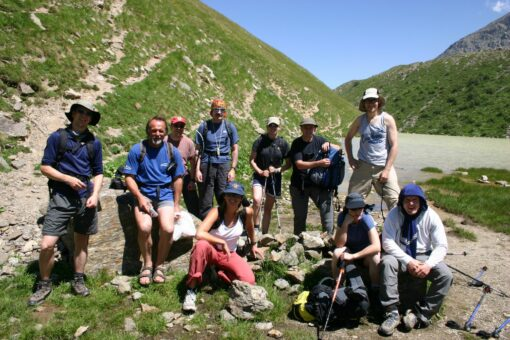 Team Hiking to Elbrus
