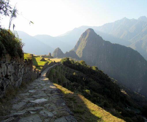 Hiking in along the path to Machu Picchu
