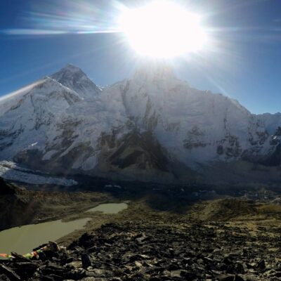 Everest Base Camp view sunrise