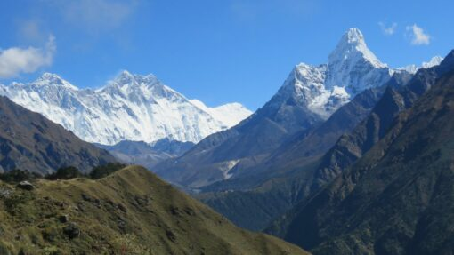 Everest base camp view of the great Himalaya