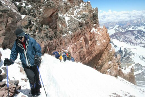 Pushing for the summit of Aconcagua