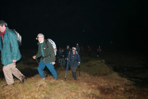 Night Hike training for expeditions