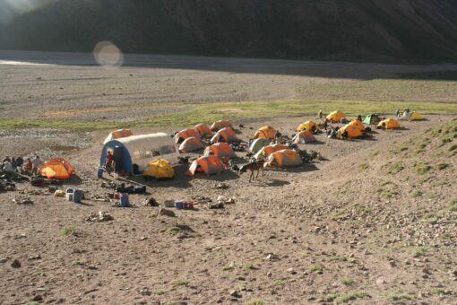 Aconcagua camp site
