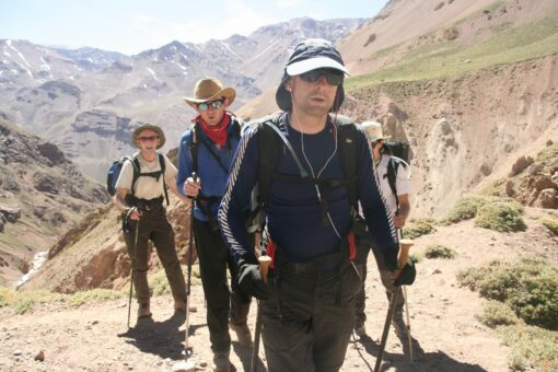 trekking in to Aconcagua base camp