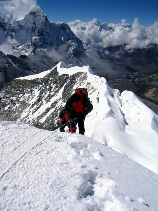 Submitting Island Peak