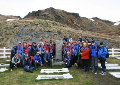 BE Group at Shackleton Grave
