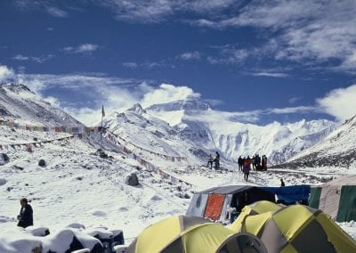 View of the North face of Everest