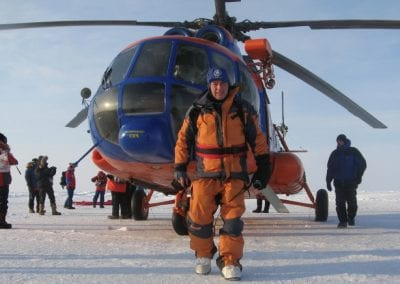 Helicopter North Pole 2008