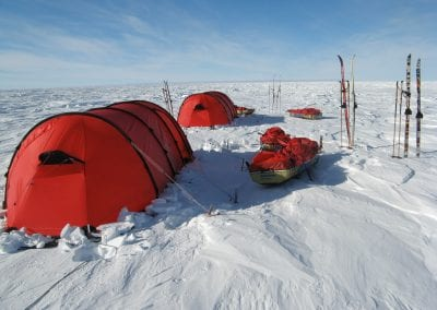 Tents in Antarctica