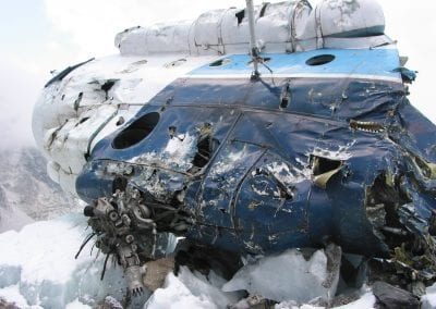 Helicopter crash Everest Expedition 2003