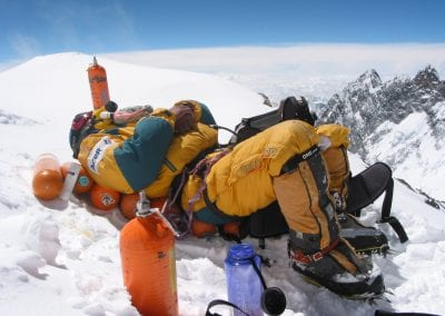 Resting After Summiting Everest