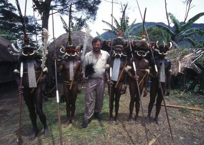 Irian Jaya-Pat with Dani-tribe