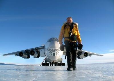 Pat Falvey Plane Antarctica 2008