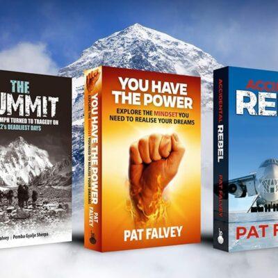 3 books Pat Falvey