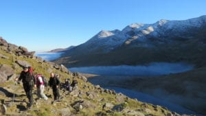 Walking on the reeks
